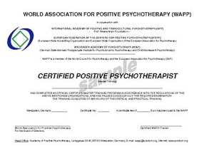 Basic Consultant of Positive Psychotherapy